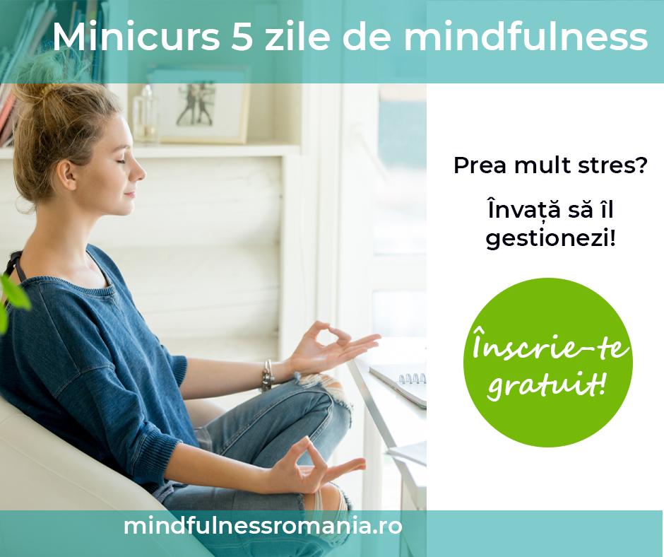 Înscrie-te gratuit la minicursul de 5 zile de mindfulness!